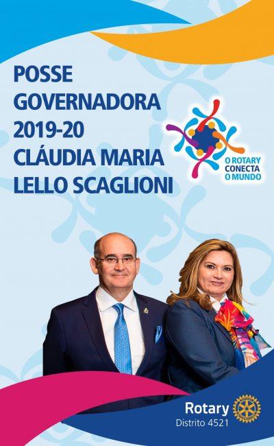 Posse Governadora Cláudia Maria Lello Scaglioni